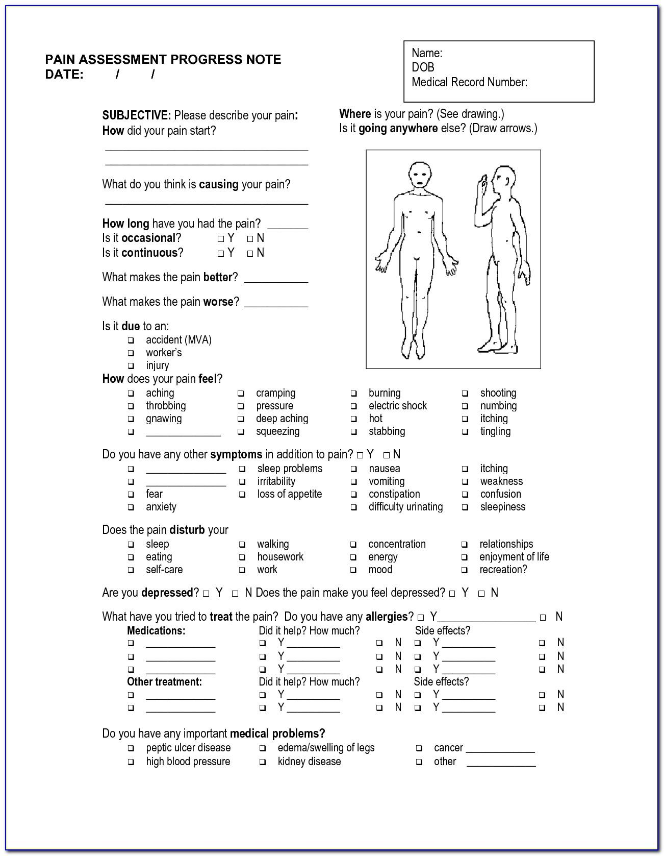 Soap Note Format Massage Therapy