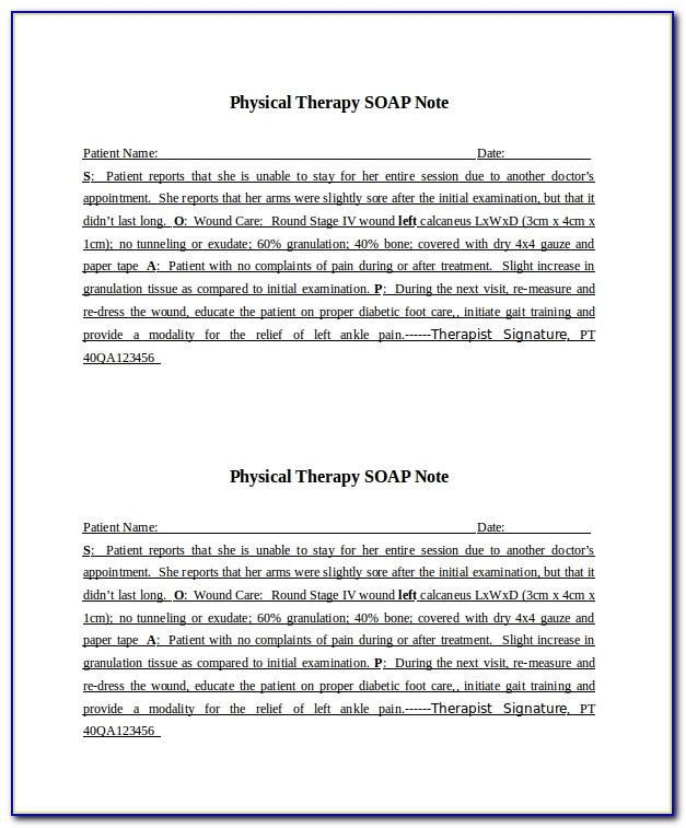 Soap Notes Template Counseling