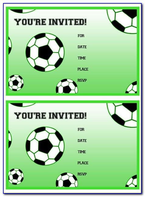 Soccer Ball Birthday Invitations Templates