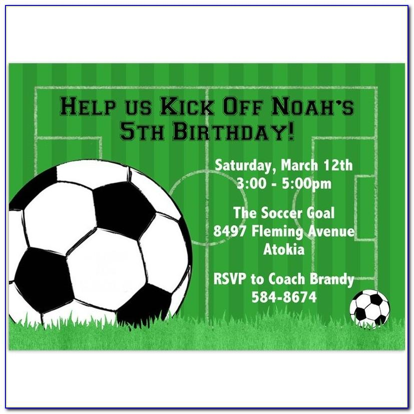 Soccer Birthday Invitation Templates