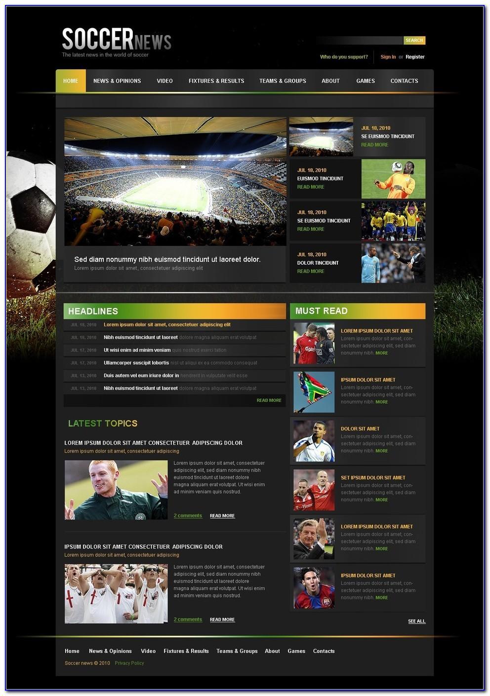 Soccer Team College Recruiting Brochure Template