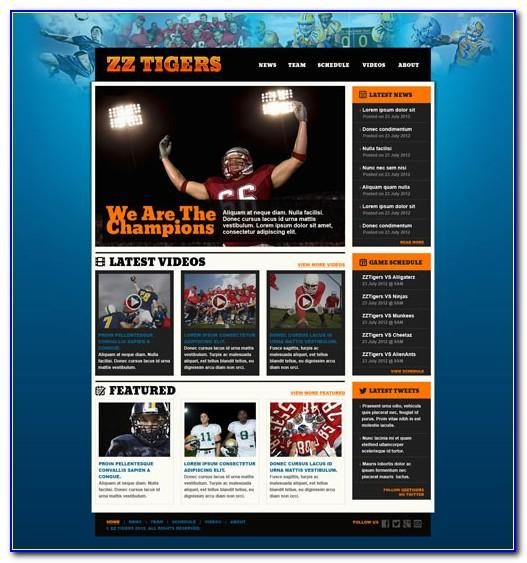Soccer Web Templates Free Download