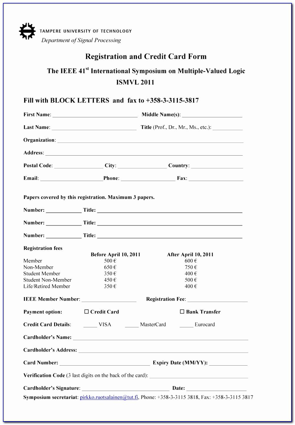 Social Club Registration Form Template