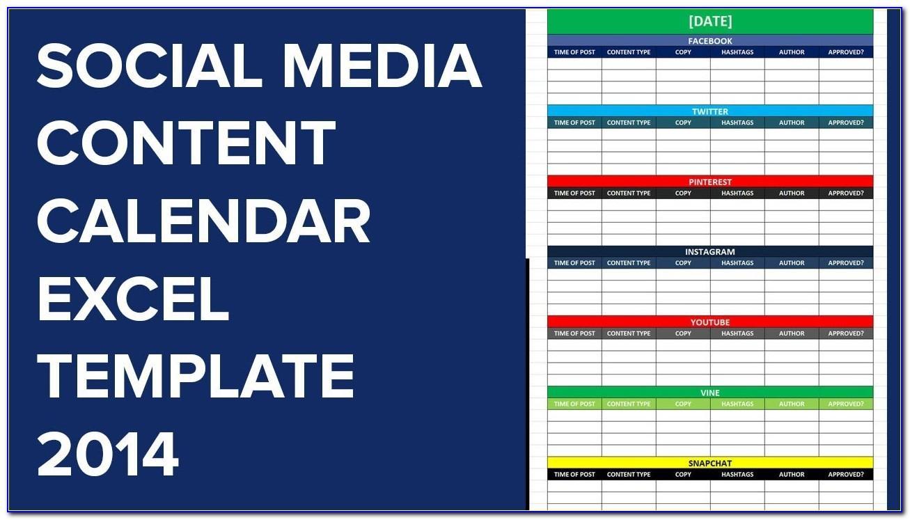 Social Media Editorial Calendar Template 2019