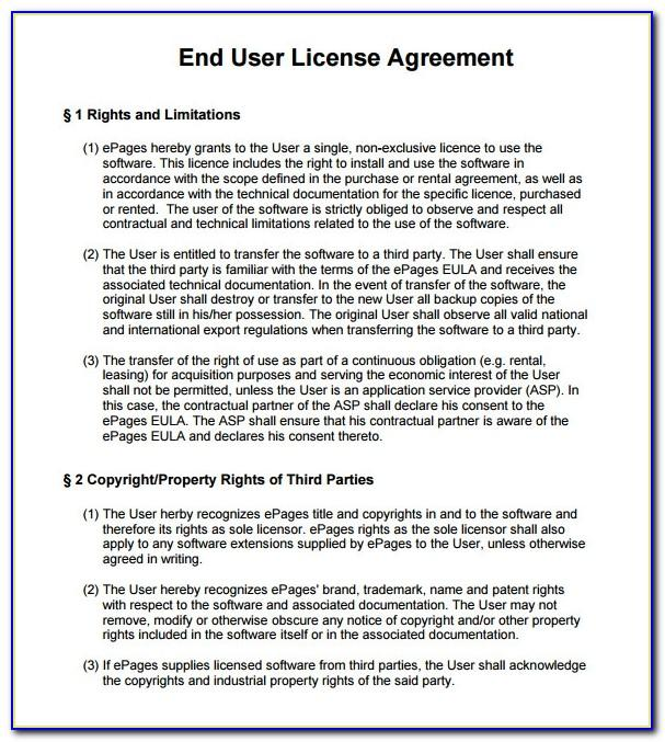 Software Legal Disclaimer Template