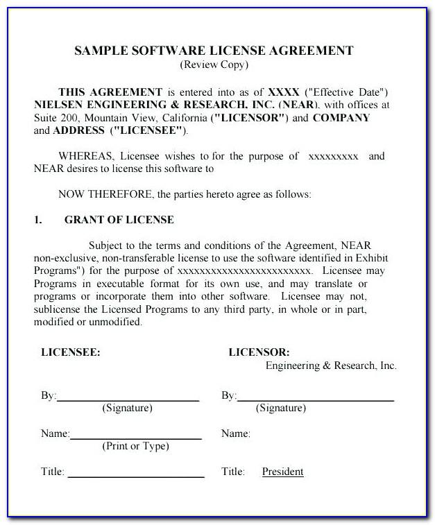 Software License Agreement Template India