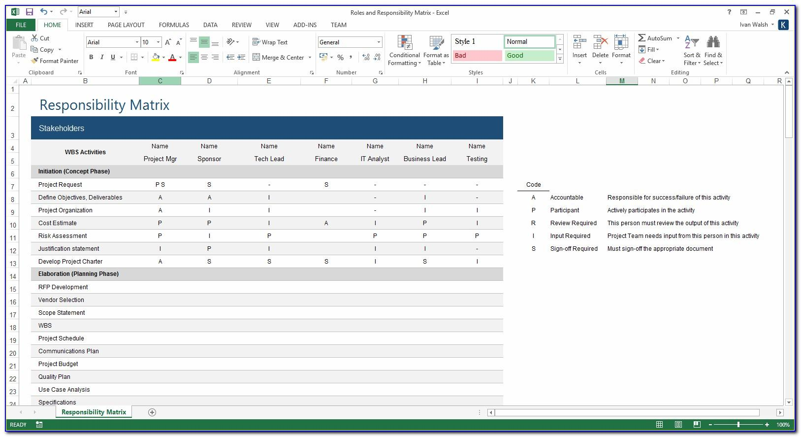 Software Project Management Plan Excel Template