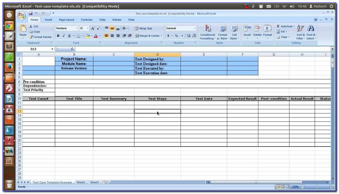 Software Test Plan Template Word