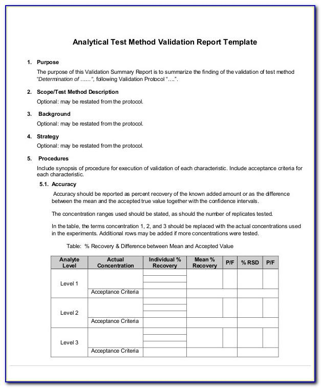 Software Validation Protocol Sample