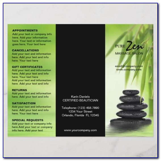 Spa Menu Brochure Template