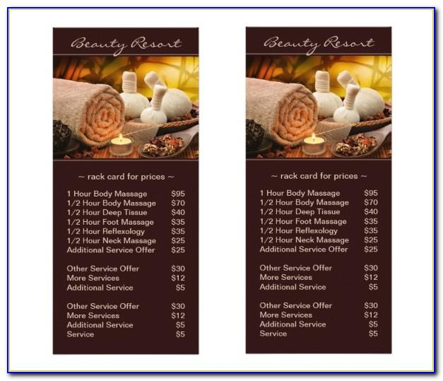 Spa Menu Design Free Template