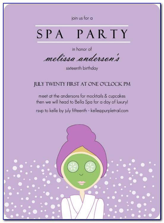 Spa Themed Invitation Template