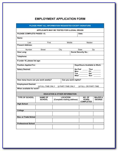 Spanish Job Application Sample