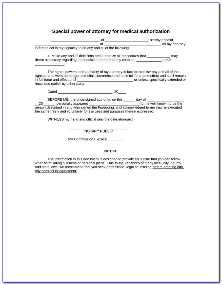 Special Power Of Attorney Form Download South Africa