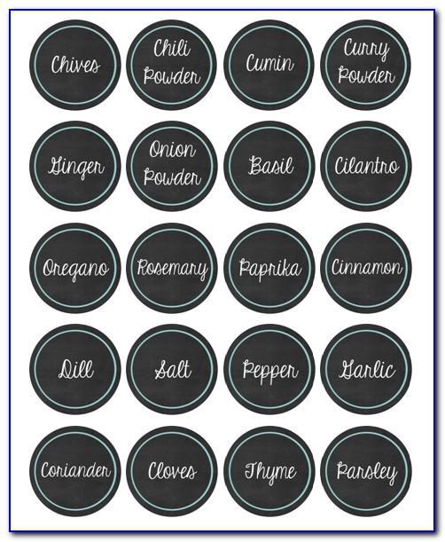 Spice Jar Labels Printable Free