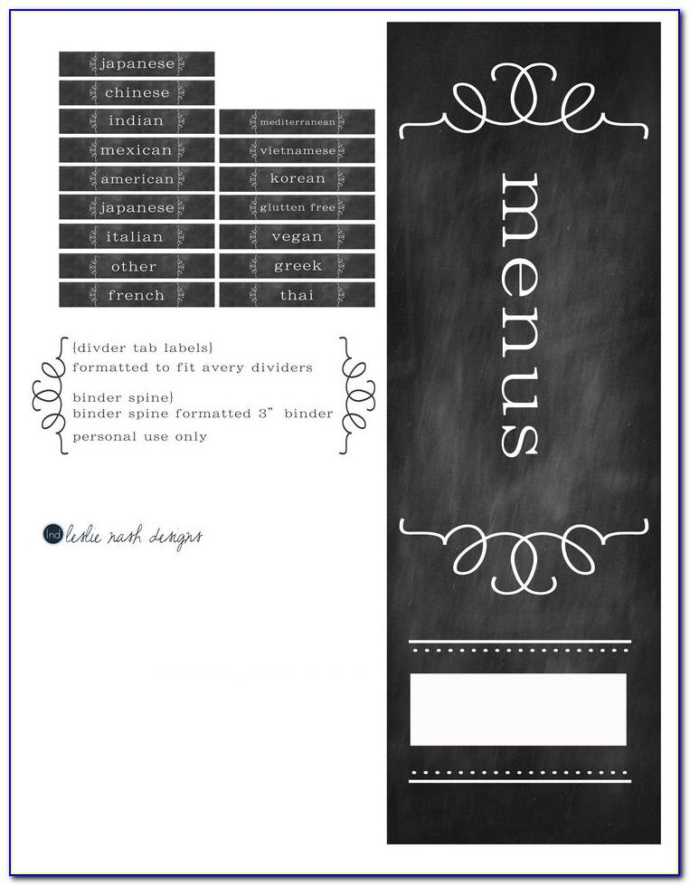 Spine Label Template For 1 Inch Binder