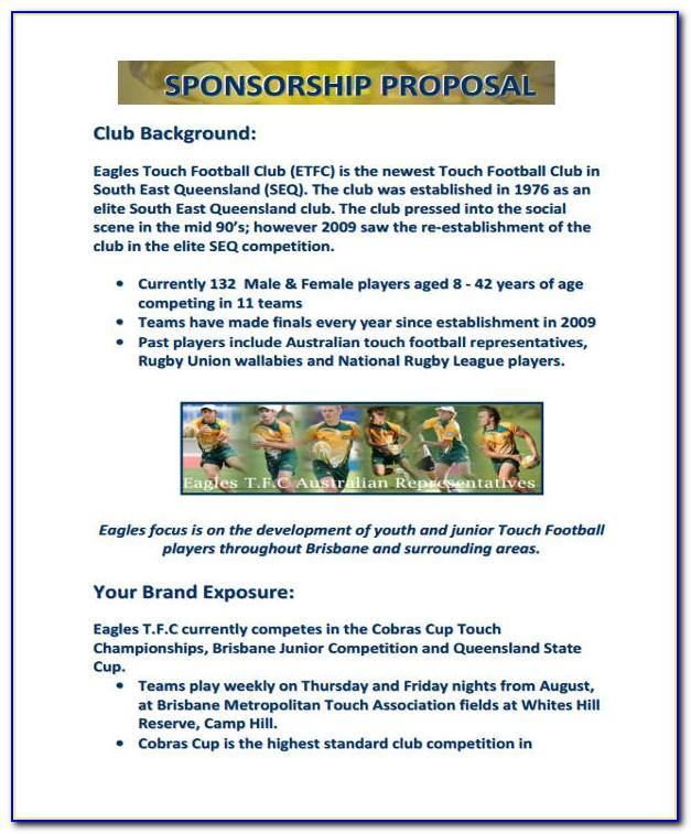 Sponsorship Proposal Example Sports