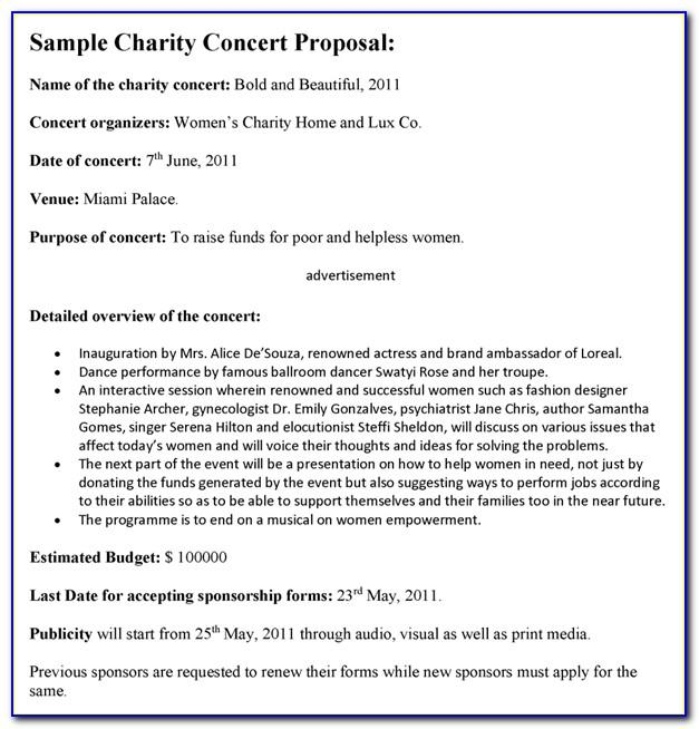 Sponsorship Proposal Sample Pdf