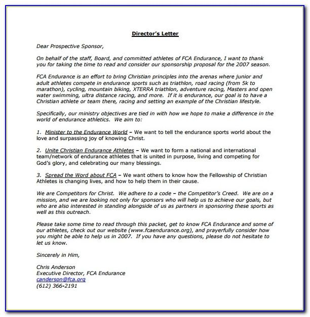 Sponsorship Proposal Template Doc