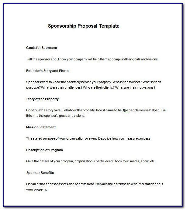 Sponsorship Proposal Template Free Pdf