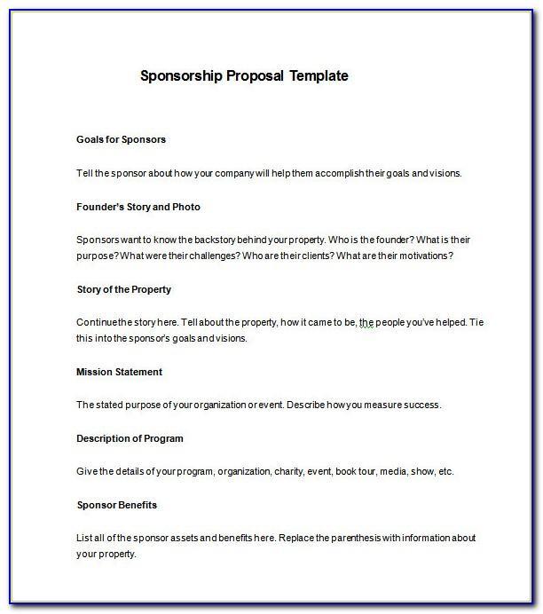 Sponsorship Proposal Template Free Pdf