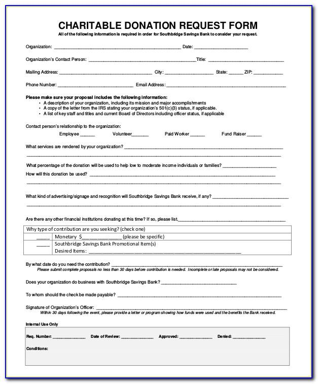 Sponsorship Request Form Template Word