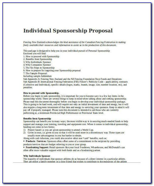 Sports Sponsorship Contract Template