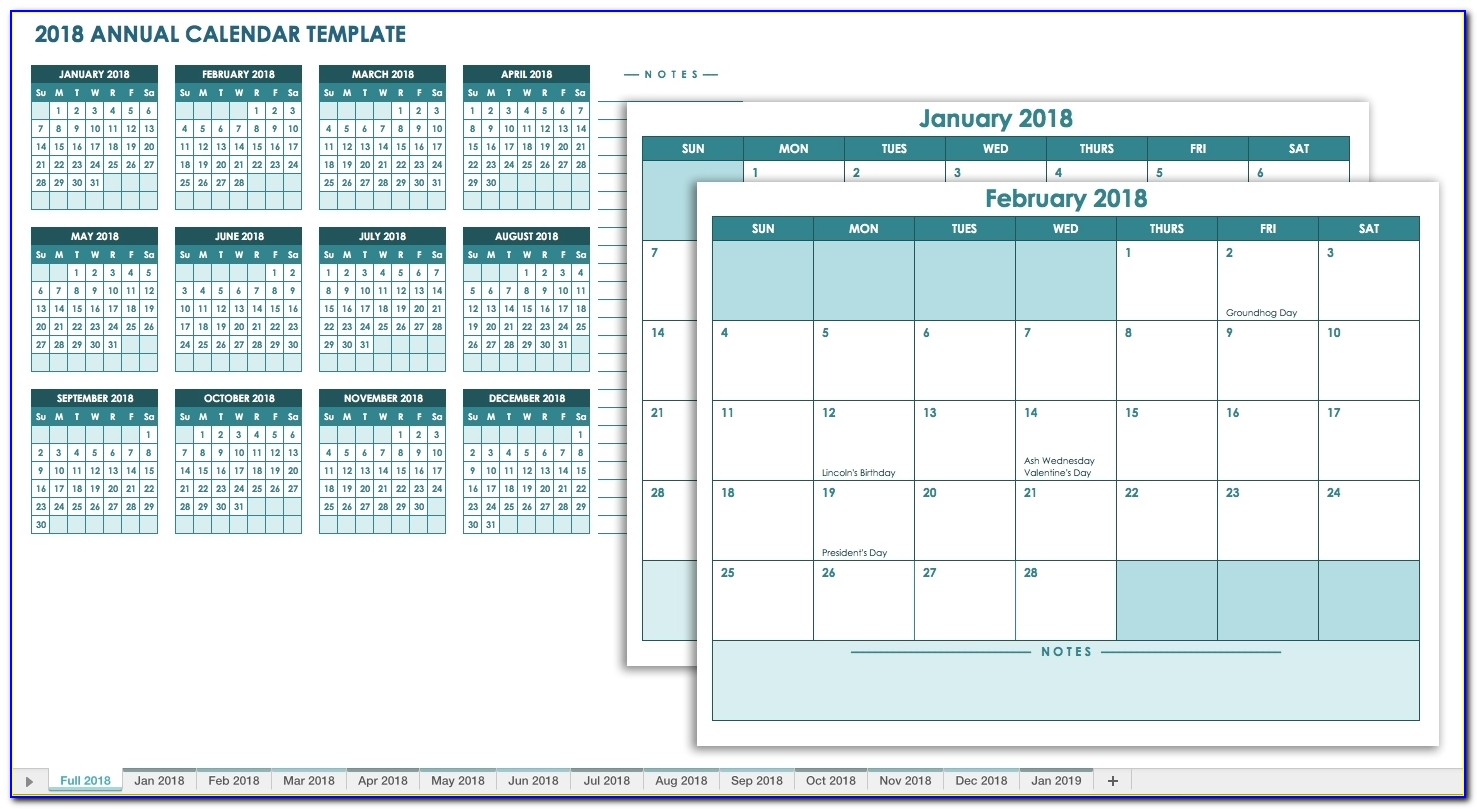 Staff Holiday Planner Template Free Excel 2018