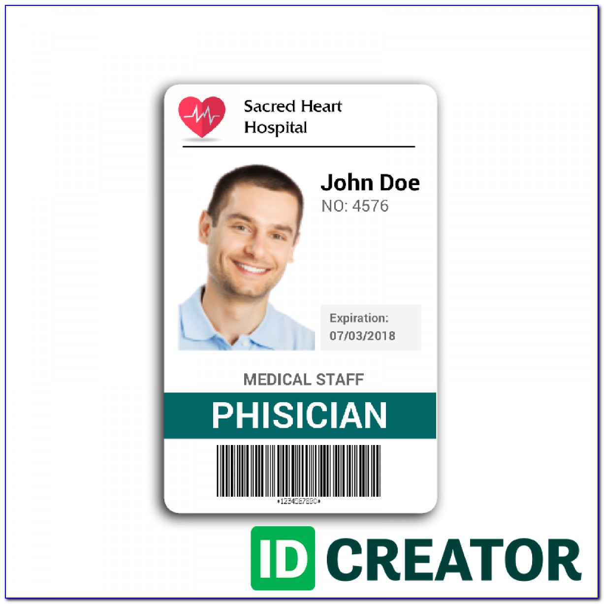 Staff Id Card Template Psd