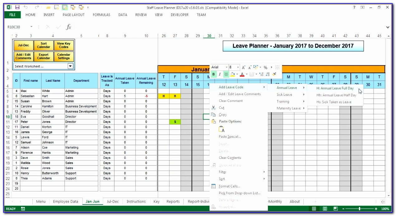 Staff Rota Template Excel Free