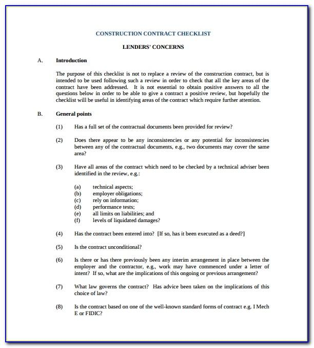 Standard Building Contract Template