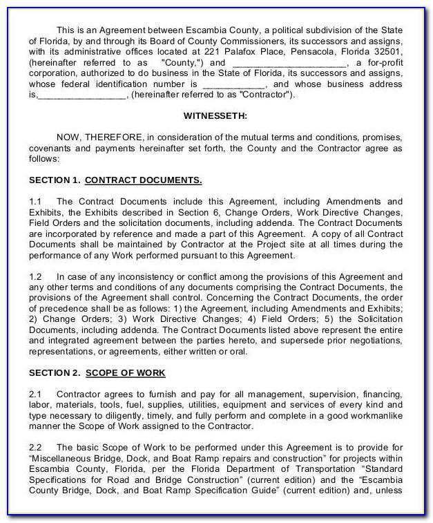 Standard Building Subcontract Agreement Sbcsuba