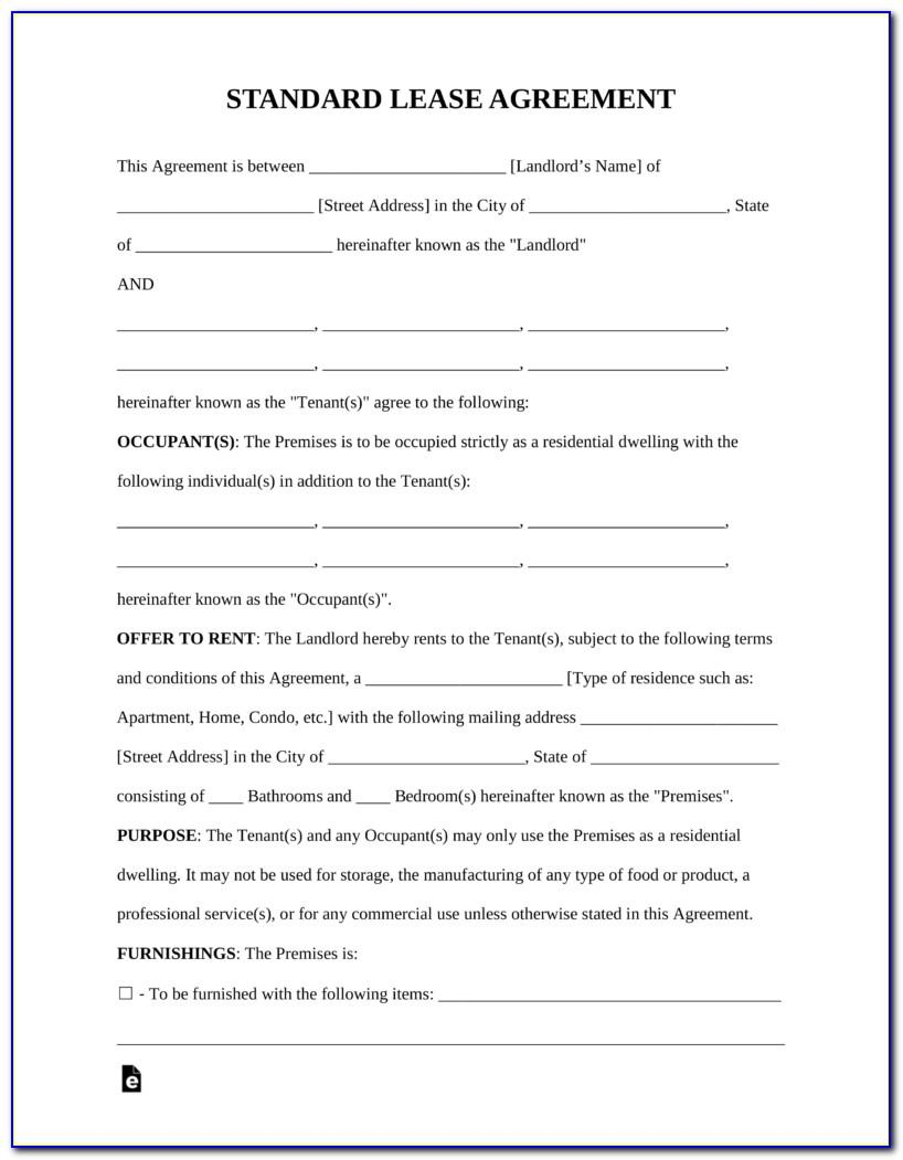 Standard Form Residential Tenancy Agreement Nsw