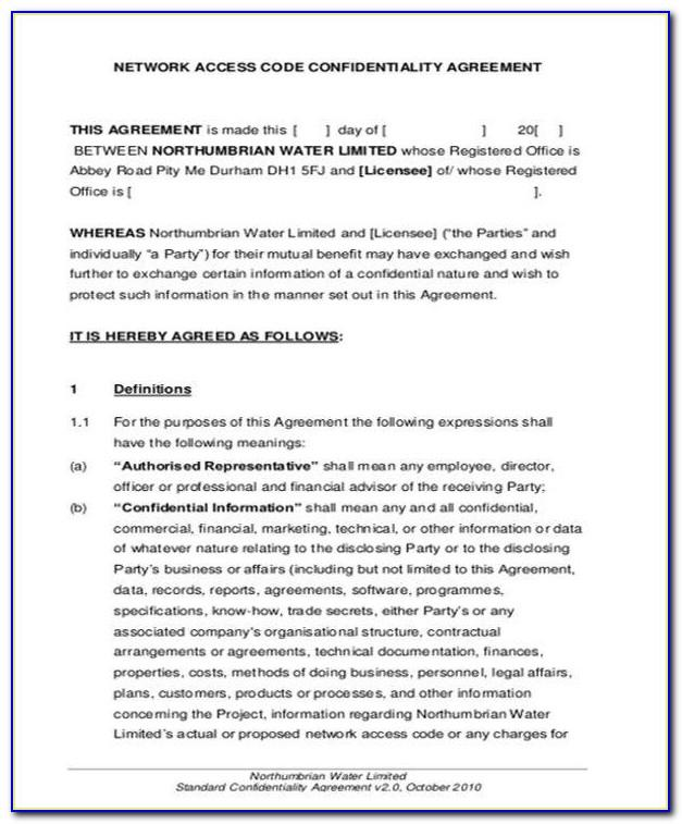 Standard Lease Agreement Template Free