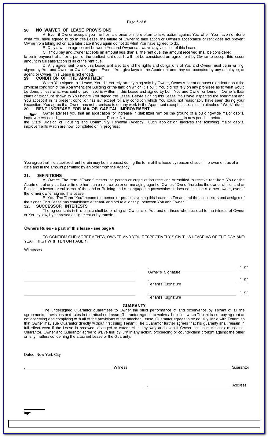 Standard Lease Form New Brunswick