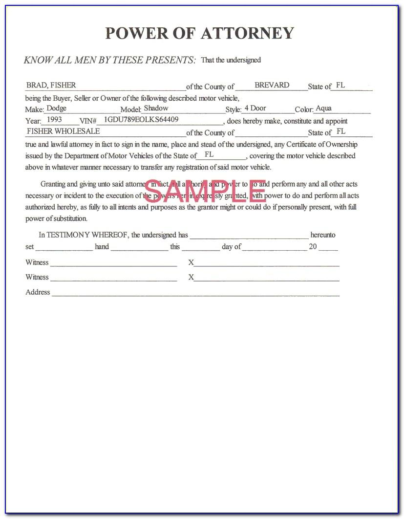 Standard Power Of Attorney Form Massachusetts