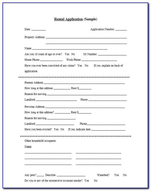 Standard Rental Agreement Form California