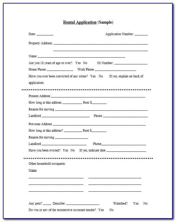 Standard Rental Agreement Form California