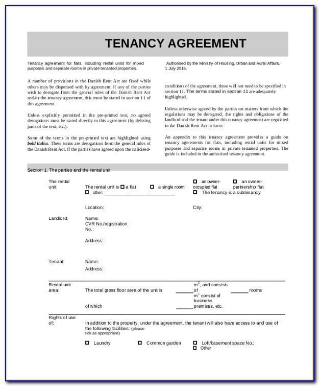 Standard Rental Contract Template