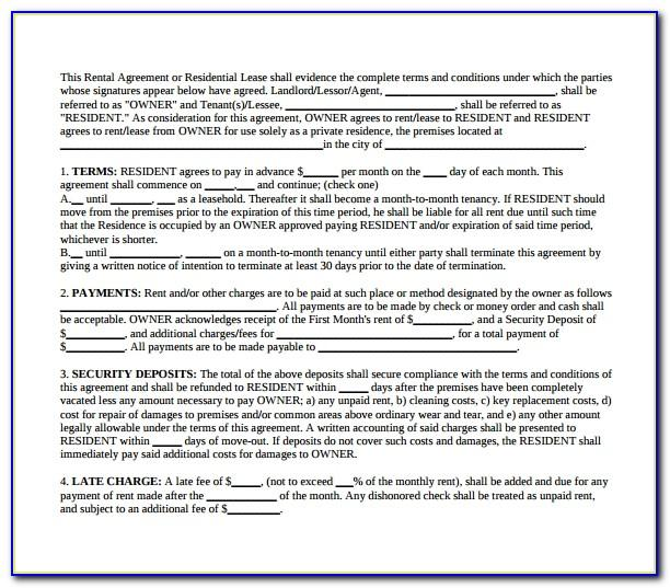 Standard Shorthold Tenancy Agreement Template