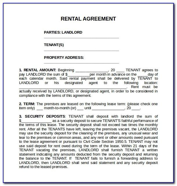 Standard Tenancy Agreement Form Uk