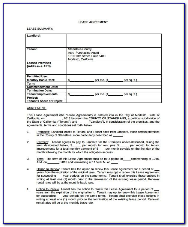 Standard Tenancy Agreement Form