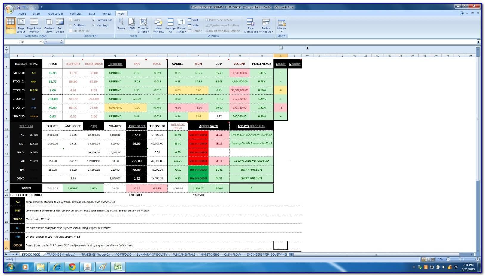 Stock Valuation Spreadsheet Template