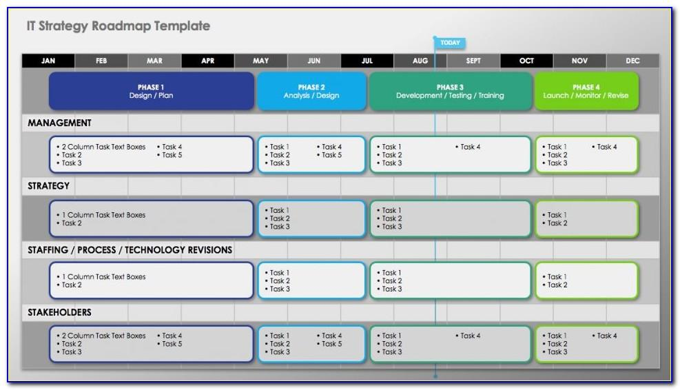 Strategy Roadmap Excel Template