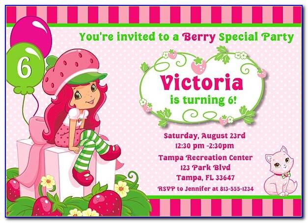 Strawberry Shortcake Baby Shower Invitation Template