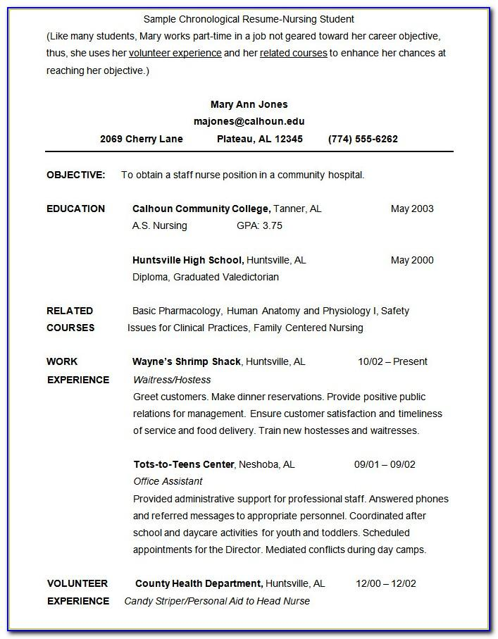 Student Resume No Experience Templates