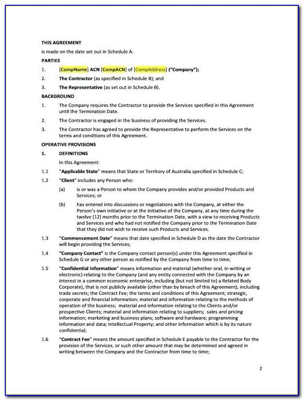 Subcontractor Agreement Form Construction