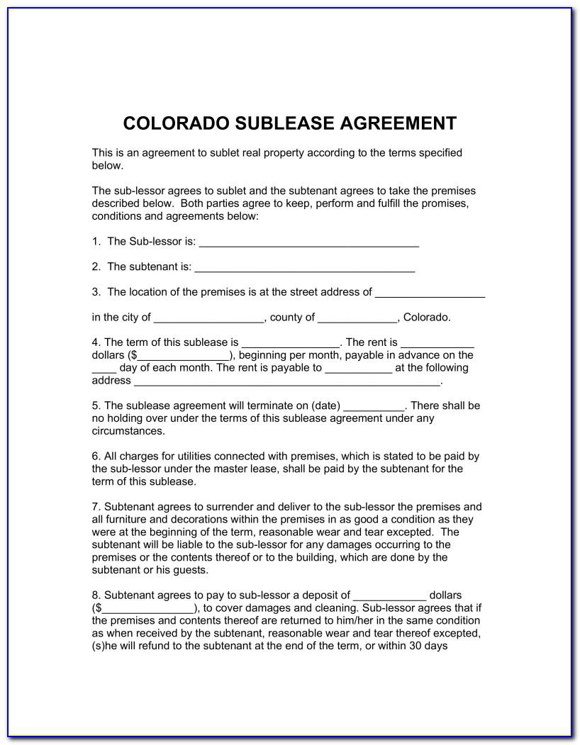 Sublet Agreement Template Canada
