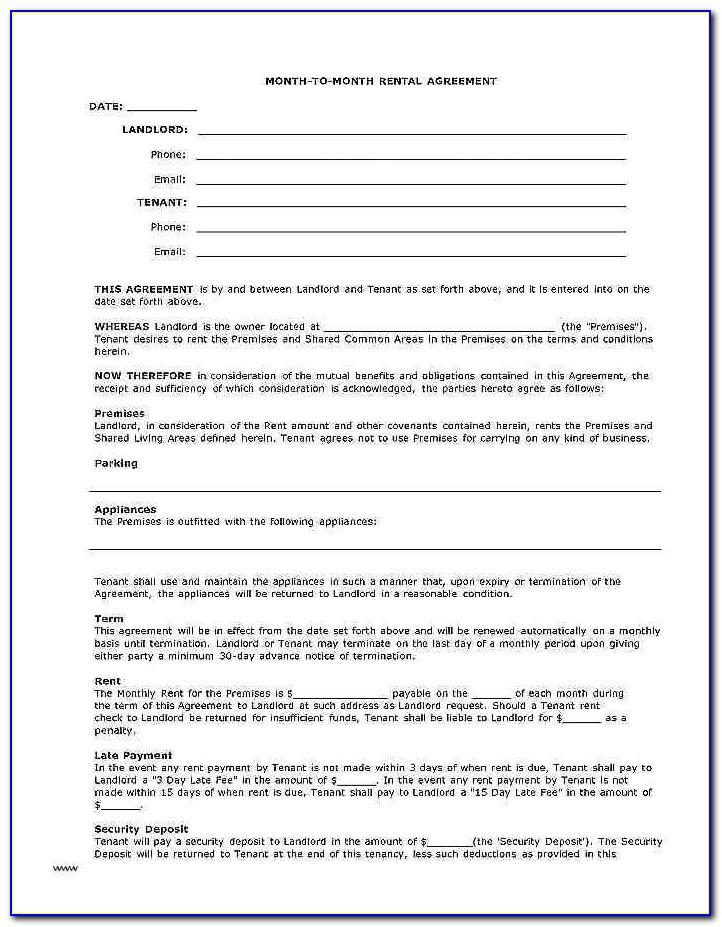 Subletting Rental Agreement Template