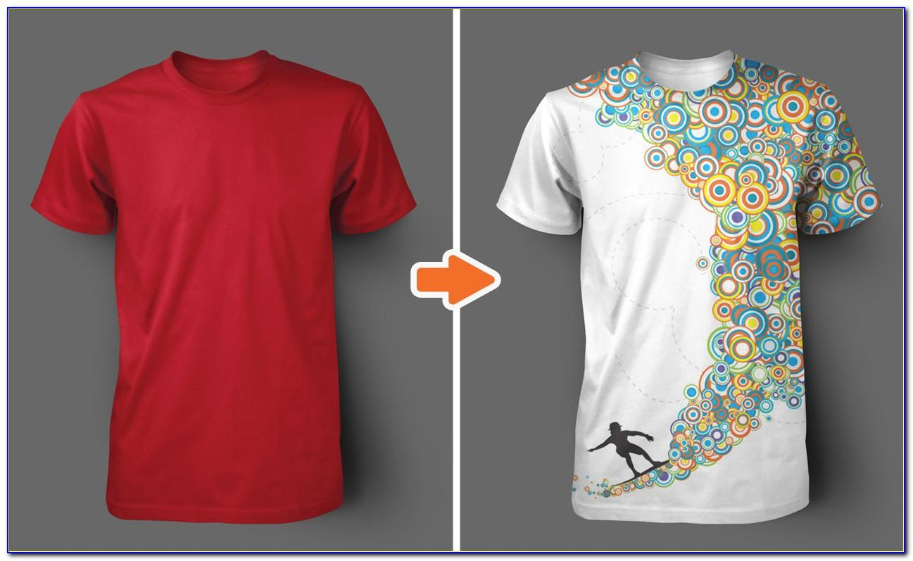 T Shirt Layout Template Photoshop